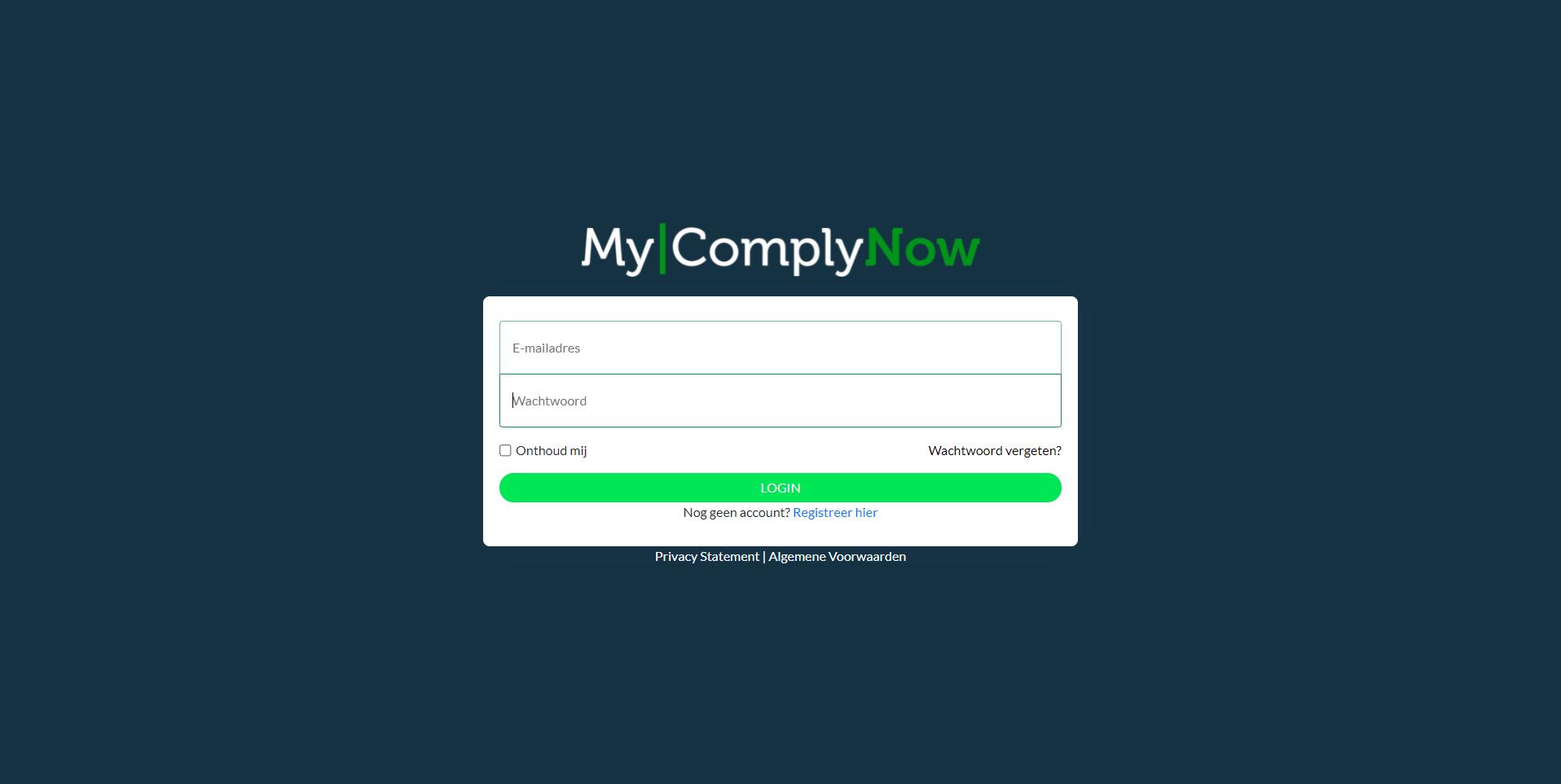 MyComplyNow Login
